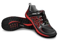 M - Oterro:  TECHNOLOGY Light, rugged and versatile - the Oterro's rugged lug outsole sheds mud and dirt while providing traction over a variety of surfaces. A printed, light mesh upper offers breathability and flexibility for trekking, light hiking, fast packing and multisport activities. A speed lace and traditional lace option allows you to customize your desired closure system. $100