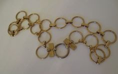 Early YSL gold-tone ring belt/necklace