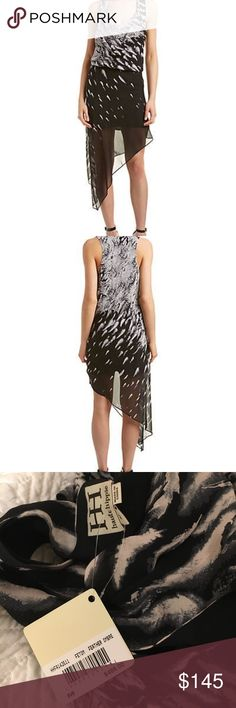 Black and White Flowy Dress Never worn. Super comfortable and light on the skin Haute Hippie Dresses