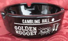Advertising Ashtray Golden Nugget Las Vegas *