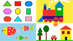 shapes shape children coloring train draw basic simple build learn mathematical fun learning together