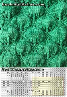 Knit leaf pattern Berries