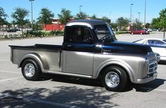 53 Dodge Two Tone Truck With Custom Ram Grill Insert Paint Jobs Chevy
