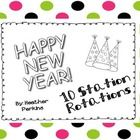 Need something to do the first day back after winter break? These are 10 math and literacy New Year Station Rotations to get your kids back in the ...