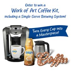 You could win a Work of Art Coffee Kit!