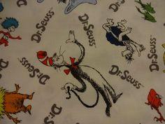 """Awesome """"CELEBRATE SEUSS"""" Handmade Cotton Pillowcase Standard/Queen #RobertKaufman #ChildrensBooks"""
