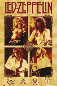Robert Plant, Jimmy Page, John Paul Jones, and John Bonham explode from this classy Led Zeppelin poster! Published in 2008. Fully licensed. Ships fast. 24x36 inches. Ramble On over and check out the r