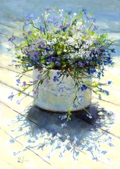 Original Fine Art By © Linda Jacobus in the DailyPaintworks.com Fine Art Gallery