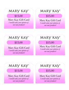 Mary Kay Birthday Certificates | Mary Kay Gift Card I would value your opinion of our new products