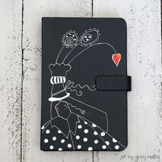 acrylic illustration cover by Giosy Matteu #notebook #moleskine