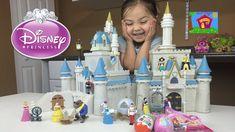 HUGE DISNEY PRINCESS CINDERELLA'S CASTLE TOY Kinder Surprise Egg Disney ...