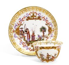 A Meissen teabowl and saucer, circa 1725-30   lot   Sotheby's