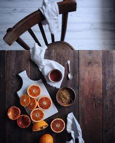 Orange juice and brown sugar