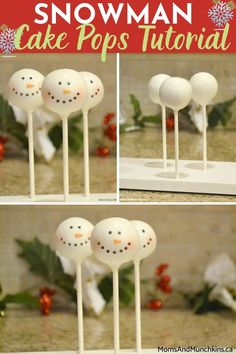 Want to make some DIY Christmas gifts for friends and family? Learn how to make this Snowman Cake Pops that are great for you to enjoy at home as well as simple and inexpensive Christmas gift that is bound to delight! Mini Dessert Recipes, Easy No Bake Desserts, Great Desserts, Party Desserts, Diy Christmas Gifts For Friends, Inexpensive Christmas Gifts, Snowman Cake Pops, Cake Pop Tutorial, Cake Pops How To Make