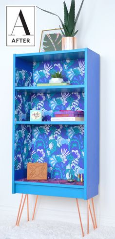 Before & After: A Bookshelf Goes From Bland to Bright | Apartment Therapy