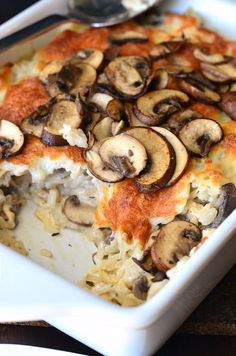 Creamy Chicken Mushroom Rice Casserole. from willcookforsmiles.com