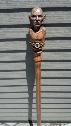 GOLLUM LORD OF The Rings Walking Stick/ Cane by TreeBoneCreations
