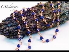 Wire wrapped loop gemstone chain | Make your own chain series - YouTube