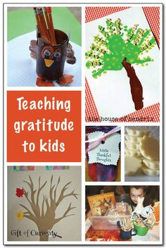 "Teaching gratitude to kids - activities and ideas to foster ""an attitude of gratitude"" in young children this Thanksgiving 