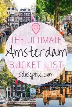 bucket list things to do The ultimate Amsterdam bucket list. Here are some of the very best things to do in the Dutch capital, Amsterdam, the Netherlands. Best attractions to visit, day trips you must take, where to eat and what to buy! Europe Destinations, Europe Travel Tips, European Travel, Places To Travel, Europe Places, Europe Europe, Traveling Europe, London Bucket List, Bucket List Europe