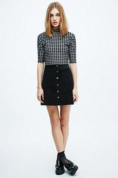 9e9a158519a Cooperative by Urban Outfitters A-Line Cord Skirt