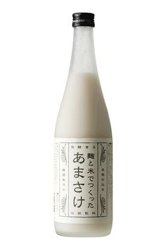 a sweet low-alcoholic drink made from fermented rice / AMAZAKE! Japanese Packaging, Beverage Packaging, Bottle Packaging, Pretty Packaging, Brand Packaging, Packaging Design, Rice Packaging, Japanese Drinks, Japanese Sake