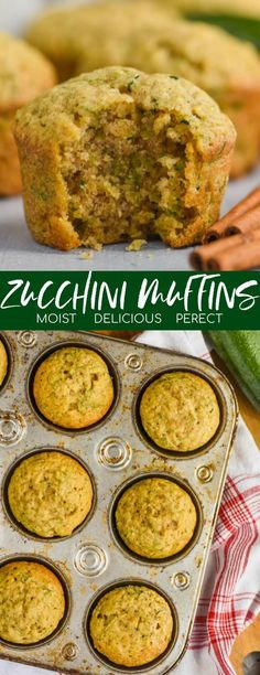 zucchini recipes These Zucchini Muffins are moist, delicious, and perfect in just about every way. Adding shredded zucchini to muffins is simple! This recipe is a keeper that you will use all summer long. Shredded Zucchini Recipes, Zucchini Muffin Recipes, Simple Zucchini Recipes, Muffins Decorados, Baby Food Recipes, Baking Recipes, Banana Zucchini Muffins, Healthy Muffins, Recipes