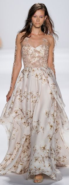 49df8565a4814 Badgley Mischka RTW Spring 2015 Floral Wedding Gown, Wedding Dresses With  Flowers, Beautiful Dresses