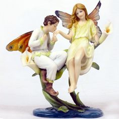 Fairy Couple Statue - CC7840 by Medieval Collectibles