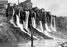 Mill District of Niagara Falls - 1886 History Niagara Falls History, Niagara Falls Pictures, Canada, America, Artwork, Pilgrim Fathers, Brazil, Places To Visit, Work Of Art