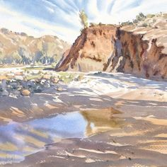 """Mike Kowalski on Instagram: """"On my recent trip to the Flinders Ranges, I stayed behind ( or was abandoned ) by my three hiking companions. I wanted to sketch in the…"""" Abandoned, Grand Canyon, Hiking, Nature, Travel, Painting, Instagram, Left Out, Walks"""