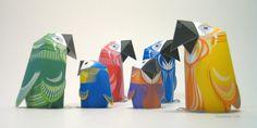 3 eyed bear - printable paper toys