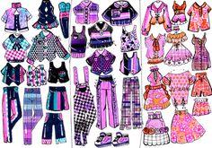 Manga Clothes, Drawing Anime Clothes, Kawaii Clothes, Anime Outfits, Girl Outfits, Cute Outfits, Fashion Outfits, Character Costumes, Character Outfits