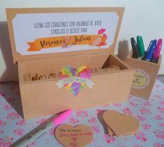caja + corazones libro de firmas 15 años boda casamiento Big Day, Ideas Para, Diy And Crafts, Bridal Shower, Marriage, Birthday Parties, Party, Wedding, Cami
