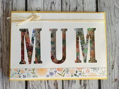 Shaker card for Mother's Day using Stampin Ups Delightful Daisy DSP & Large Letter Framelits by Kate Morgan, Independent SU Demonstrator, Rowville flat.JPG