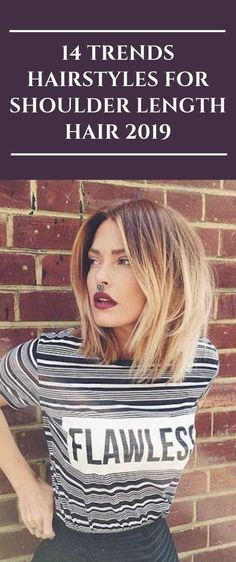 14 Trends Hairstyles For Shoulder Length Hair 2019 Popular Short Haircuts, Cool Short Hairstyles, Diy Hairstyles, Medium Short Haircuts, Hairdos, Medium Hair Cuts, Short Hair Cuts, Medium Hair Styles, Short Hair Styles