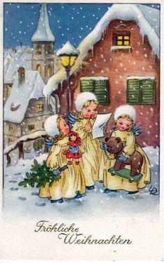 Nostalgische Weihnachtskarten Kaufen.Die 1828 Besten Bilder Von Nostalgische Weihnachtskarten In 2019