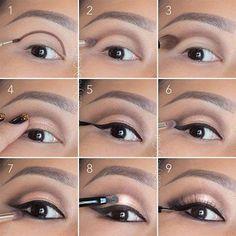 hooded-eyes-makeup-cut-crease. Open your hooded eyes. Www.eastcoastbeautyqueens.com #cutcreasehoodedeyes