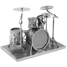 Drum Set Metal Earth 3D Model