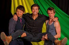 Misha Collins, Matt Cohen & Chad Lindberg.