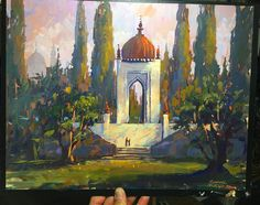 #sammichlap #urbanmichlap #orientalism #pleinair #painting #palace #conceptart #conceptdesign #gouache #impressionism #gardens A gouache sketch done for Sinbad, my first experience as a Production Designer. Looking back, it was an amazing  opportunity to help lead the design efforts, but the greatest part was being able to work with one of the best teams ever assembled at DW. Literally this show had the very best talent from across the studio!
