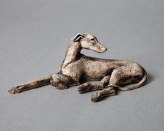 Laying Greyhound | Lloyd-Coombes Ceramics