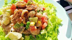 Vegspiration - Blog de inspiración vegana: Ensalada cremosa de patatas y judías con verduras