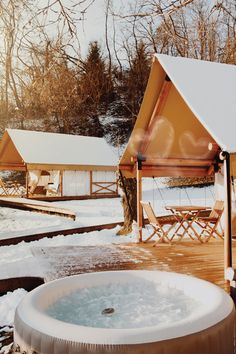 Glamping in winter? Doesn't it sound right? Well, we'll prove you wrong. Treat yourself with the out-of-the-box winter retreat and book your stay at Chateau Ramšak Glamping resort, located in the scenic wine region of Styria. Winter glamping at its best! #glamping #slovenia #feelslovenia #winterglamping #glampingdestination #travel #luxurytravel | Slovenia, destination for luxury travel - winter vacation idea for glamping lovers