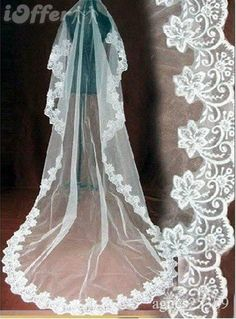 I love cathedral veils!
