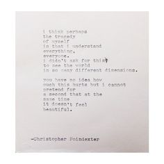 The Blooming of Madness poem #205 written by Christopher Poindexter