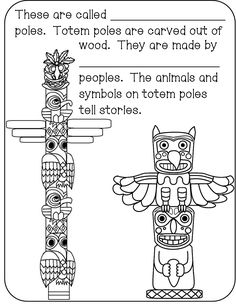 Totem Pole Coloring Pages . totem Pole Coloring Pages . Coloring Pages totem Poles Coloring Home Aboriginal Art For Kids, Aboriginal Day, Aboriginal Education, Indigenous Education, Canada For Kids, All About Canada, Canada Canada, Social Studies Activities, Teaching Social Studies