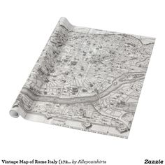 Vintage Map of Rome Italy (1721) 2 Wrapping Paper