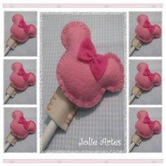 Ponteira de Lápis Minnie | Jolie Artes | 16F69B - Elo7