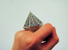 Theresa Burger - Cast silver version of the 'Hexagonal Ring' 2011  With blackened detail.
